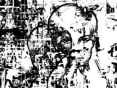black (j.p.yef) Tags: portrait people bw woman abstract monochrome digitalart sw irene abstrakt yef peterfey jpyef