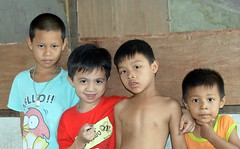 boys (the foreign photographer - ) Tags: boys standing thailand four nikon bangkok row lard bang plywood bua khlong bangkhen d3200 phrao oct242015nikon