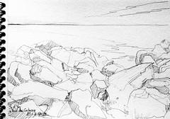 Ile d'Yeu, la Pointe des Corbeaux (Croctoo) Tags: croctoo croctoofr crayon croquis rochers ocean yeu