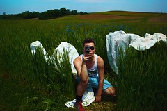Im Sorry... (Anton Redding) Tags: camera gay boy summer white field grass sunglasses club landscape photo video orlando wings outdoor sheets lan horror shooting anton grassland redding
