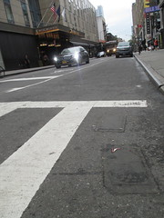 Two Fresh New Toynbee Tiles Theater District 2016 NYC 1354 (Brechtbug) Tags: street new york 2001 city nyc two white streets west up june st by corner dead idea bars theater cross traffic walk manhattan district under pedestrian pop fresh severino midtown made tiles ave planet ready commuter jupiter kubricks patch avenue 8th toynbee named verna tar crumbling sevy 44th possibly reclusive 2016 resurrect philadelphian 06152016