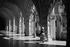 Into the shadows (D A Scott) Tags: blackandwhite portugal lisbon monastery dos jeronimos mosteiro