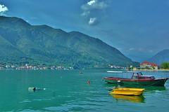 Montenegro - Kotor Bay scene (stevelamb007) Tags: landscape boats nikon village angle wide d70s tokina montenegro 2014 kotor kotorbay stevelamb flickriver 1116mmf28