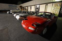 Miataz (Joe Folino ( LoopRunner )) Tags: classic cars sports up car lights group convertible headlights pop na mazda miata roadster flippy
