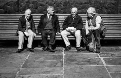 2016_173 (Chilanga Cement) Tags: blackandwhite bw men bench sitting fuji meeting guys paving xseries x100 x100s x100t fujix100t
