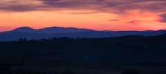 Last Light Tuscany (jfusion61) Tags: pink sunset sky italy panorama mountains color spring nikon purple tuscany siena 70200mm d810