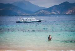 Into the Blue... (Dinozauw) Tags: ocean blue sea seascape beach water swim indonesia island boat seaside sand asia southeastasia waves outdoor calm bikini shore gili lombok tranquil gilitrawangan