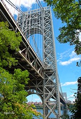 IMG_3397~The  Bridge (Cyberlens 40D) Tags: urban cities bridges structures foliage sky canon views scenery rivers hudsonriver ny nj platinumheartawards