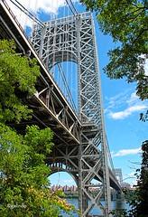IMG_3397~The  Bridge (Cyberlens 40D) Tags: urban cities bridges structures foliage sky canon views scenery rivers hudsonriver ny nj platinumheartawards