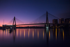 Anzac Bridge after Susnet (satochappy) Tags: twilight harbour sydney australia nsw bluehour  anzacbridge