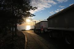 Early morning Trucking (CNDoz) Tags: truck sunrise freshwater cndoz