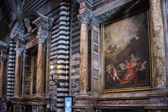 Siena - Cathedral Frescoes in North Aisle (Le Monde1) Tags: city horses italy nikon cathedral unesco worldheritagesite rivers tuscany siena stmary elsa palio pilgrims frescoes piazzadelduomo highaltar d610 northaisle arbia santamariaassunta merse viafrancigena lemonde1