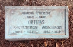 George Whitney Childs, 1882 (Stewf) Tags: 1920s cemetery j s r e gravestone lettering serif highwaisted mountainviewcemetery condensedserif