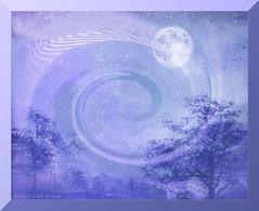 """Once in a blue moon....."" (Elisafox22 slowly catching up ;o)) Tags: elisafox22 sony ilca77m2 100mmf28 macro macrolens telemacro sliderssunday hss blue vortex landscape moon sky trees photomanipulation photoshop ipad texture postprocessing photomanipulated textures elisaliddell©2016 ""exoticimage"""