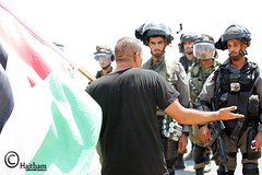 The weekly Friday peaceful demonstration in the village of Bil'in - 08.07.16 (TeamPalestina) Tags: heritage me beautiful sunrise turkey photo photographer sweet live palestine westbank ramallah jerusalem uae eid demonstration blockade bilin qatar freepalestine photooftheday picoftheday prisoners palestinian occupation iof  haithamkhatib