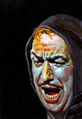 """Famous Monsters of Filmland #14 (1961), Vincent Price in """"The Pit and the Pendulum"""" cover by Basil Gogos (Tom Simpson) Tags: illustration vintage painting horror 1960s 1961 vincentprice famousmonsters basilgogos famousmonstersoffilmland thepitandthependulum"""