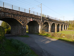 Kirtlebridge Railway Viaduct carries the WCML over the Kirtle Water and the road from Kirtlebridge to Annan (penlea1954) Tags: bridge water scotland railway viaduct annan dumfries galloway dumfriesshire wcml kirtle kirtlebridge