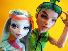 It's just a snapshot, Cleo! (nonaptime) Tags: ooak swimclass repaint customdoll scaris lagoonablue monsterhigh deucegorgon
