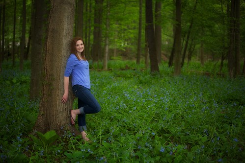 My niece Mollie in the Bluebells