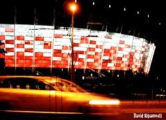 Warsaw, Stadium & Speed (David Ripamonti) Tags: city sea sky yellow night canon landscape eos colours stadium poland polska krakow warsaw notte polonia hel cracovia pepole varsavia 50d