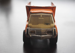 Metal Tonka Truck (A Great Capture) Tags: old orange toronto ontario canada yellow truck vintage toy pick tonka on ald ash2276 ashleyduffus