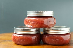 small batch strawberry rhubarb jam (Marisa | Food in Jars) Tags: spring strawberries jam rhubarb