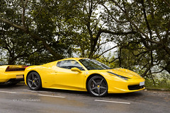 Ferrari 458 Spider (- Icy J -) Tags: morning italy cars car yellow hongkong drive spider cool md italia awesome sunday fast ferrari hong kong exotic supercar smd 458