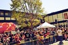 #FrankChu at Cherry Blossom Parade 2013 (Steve Rhodes) Tags: frankchu uploaded:by=flickrmobile flickriosapp:filter=iguana iguanafilter cherryblossomfestival2013
