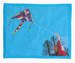 Joy (bekahdu) Tags: kite art beach quilt textile fiber fibre