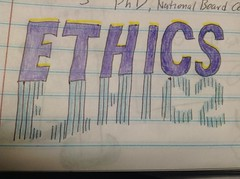ETHICS (DannonL) Tags: shadow typography mirror ethics doodle