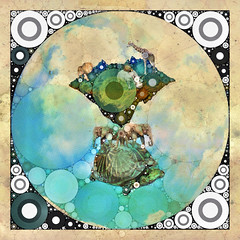 The Turtle and Elephant Myth (NaProsvet1) Tags: art animal artwork moscow whimsical percolator iphone mobileart iphoneart naprosvet