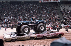 IMG_0065 (Nighthauler Photography) Tags: tractor cars truck pull meadowlands arena crushing bigfoot sled weight