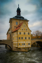 Altes Rathaus on the Obere Brcke over the Regnitz River in Bamberg Germany (mbell1975) Tags: world old city bridge building heritage river germany bayern deutschland town hall site cityhall over eu bamberg unesco german government townhall brcke rathaus altstadt oldtown deutsch whs altes bayer regnitz obere