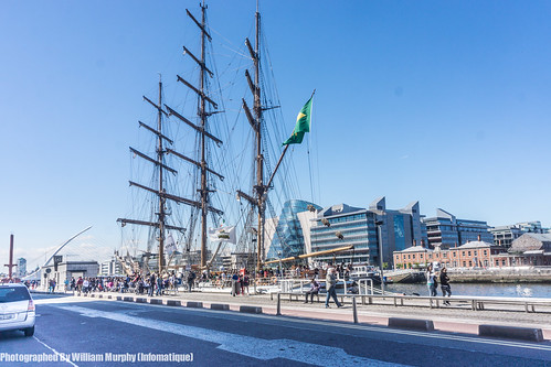 ireland dublin netherlands amsterdam boat europe ship tallship sailingship dublindocklands whiteswan williammurphy cisnebranco infomatique fullriggedship damenshipyard
