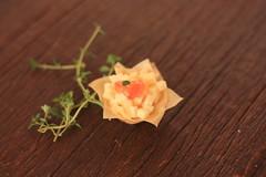 CESTINHA FILO DE QUEIJO COALHO COM GELÉIA DE PIMENTA (A Nossa Cozinha - Rotisserie, Locação e Gastrono) Tags: coquetel cestinha geléiadepimenta queijodecoalho