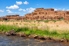 Rio Pueblo Summer (Michael Deleon Photo) Tags: summer favorite newmexico architecture afternoon unitedstates nativeamerican adobe taos taospueblo riopueblo