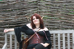 IMG_1935 (KuriTheElf) Tags: cosplay wildlife elf corset redhair lyna blacktights leatherboots