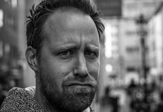 Fabian (Diggoar) Tags: portrait blackandwhite bw face pentax bokeh 40mm k5 funnyexpression pentaxk5 da40mmxs