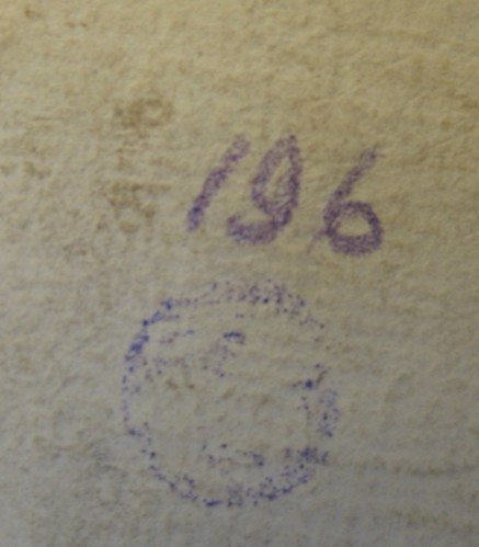 Isl Ms 62 seal impression front flyleaf recto
