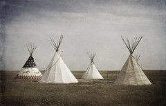 indian summer (eDDie_TK) Tags: sky clouds canon colorado textures nativeamerican co teepees highplains theplains auroraco sigma1770mm canon7d eddietk plainsconservationarea