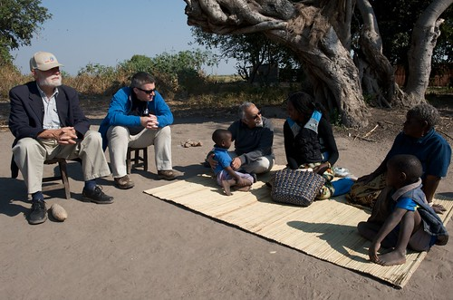 Listening to community concerns in Mongu, Zambia. Photo by Patrick Dugan, 2012.