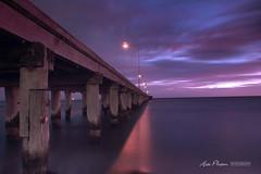 Altona Pier (h.pham) Tags: ocean wood water night pier fishing purple smooth slowshutter plank altona haipham