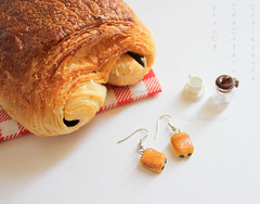 Miniature French Chocolate Croissant Earrings (www.lanostalgiejewelry.com) Tags: food woman paris france color art love girl fashion breakfast silver french happy la miniature baking foods photo photos sweet handmade chocolate femme details joy memories style jewelry bijoux her salinas jewellery delicious patisserie gift precious pastry croissant nostalgic earrings pastries fashionista choco crusty mariana chocolat nostalgie baked croissants parisienne breakfasttime giftforher
