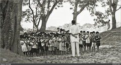Morning Assembly (AnimeshHazra) Tags: school india monochrome kids rural village teacher bengal bhatora