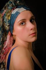 the girl with the long scarf (Roberta Tavernati) Tags: portrait selfportrait girl beauty scarf headscarf picture silk quadro fantasy fantasia autoritratto foulard seta ritratto ragazza dipinto creativit thegirlwiththepearlring