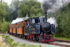 No 9 on the new line (geoffspages) Tags: railway steam narrowgauge statfold