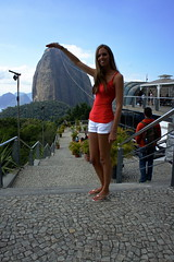 sugar loaf mountain view, rio de janeiro (Photo Quintessence) Tags: city blue trees sea brazil mountain building green beach water riodejaneiro sand soft view christ cathedral sunny hills christtheredeemer clear palmtree views cablecar sugarloaf barra copacabanabeach 2013 statueofchrist carnivalcostumes barradatijuc