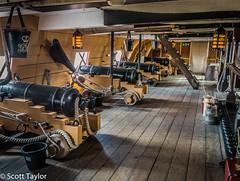 Gundeck, HMS Victory (Scrufftie) Tags: england canon unitedkingdom portsmouth lightroom hmsvictory royalnavy canonpowershotg15