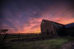 My Barn (Explore) (It's my whole damn raison d'etre) Tags: county pink roof sunset orange alex field stone barn virginia nikon purple cloudy box farm salt va springs quaker hdr built partly loudoun saltbox purcellville silcott erkiletian d800e