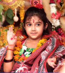 Her name is Rimi (Sam Gupta Photography) Tags: new baby india cute girl smile canon delhi traditional puja durga kumari 2013 canonindia canoneos60d samguptaphotography tamronindia tamron70300vcdiusllens